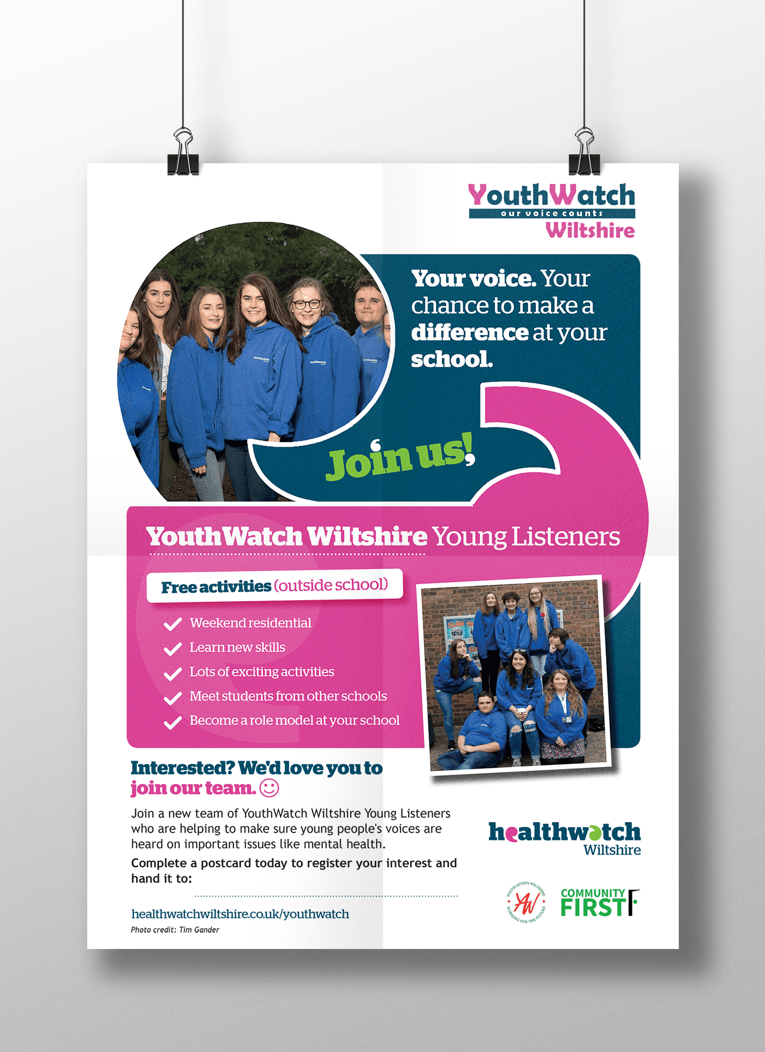 YouthWatch Wiltshire - Print Design - Community First