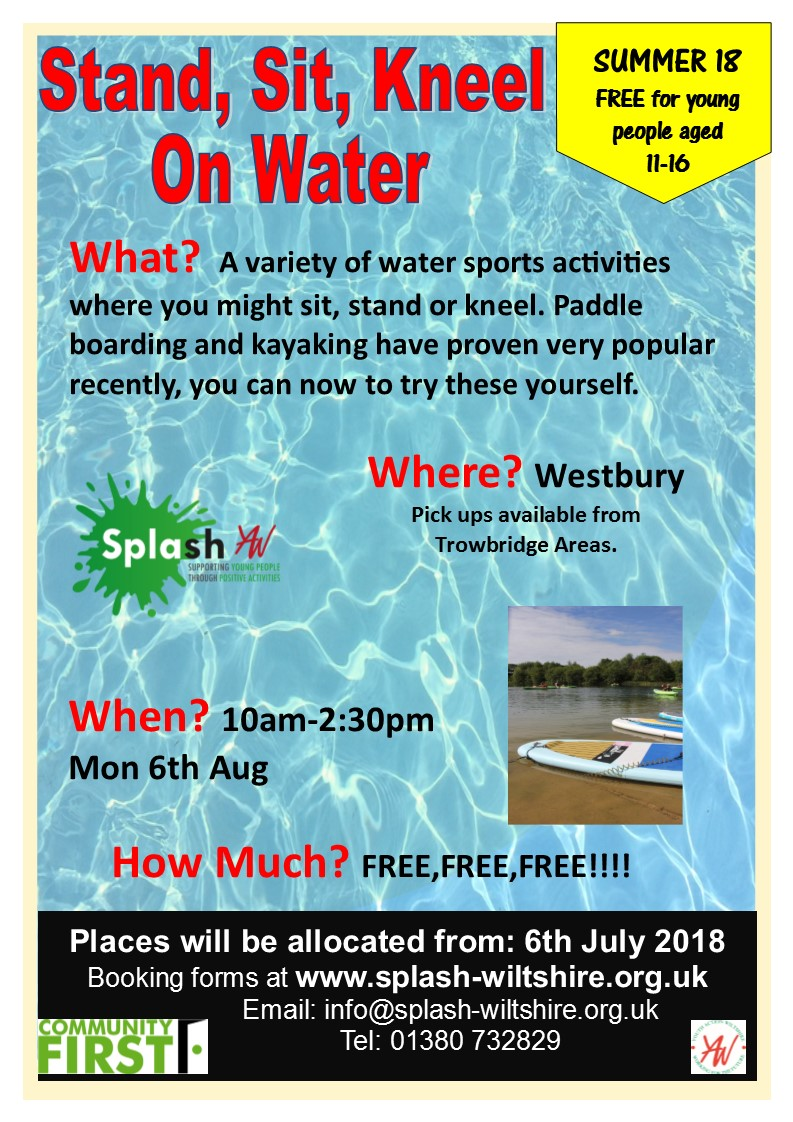 Stand-Sit-Kneel on Water Summer 18 Westbury - Week3