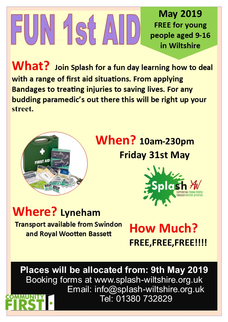 Fun First Aid May 2019 Splash Poster