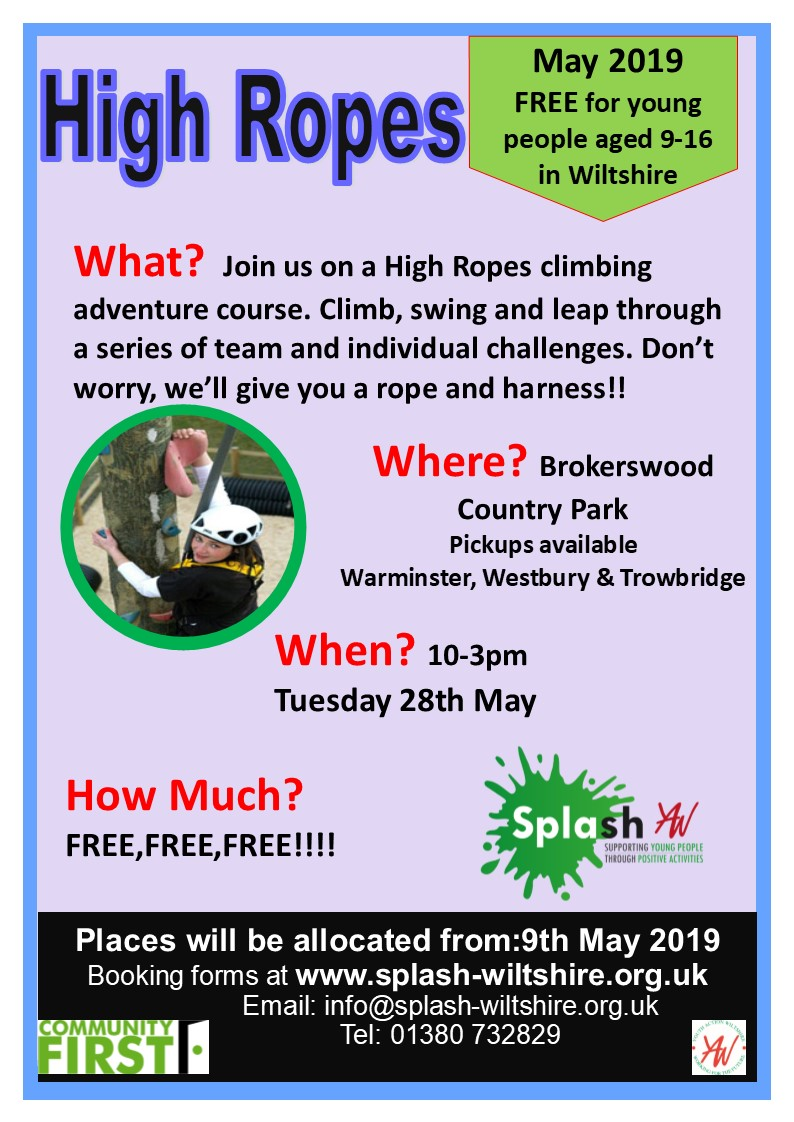 High Ropes May 2019 Splash Poster