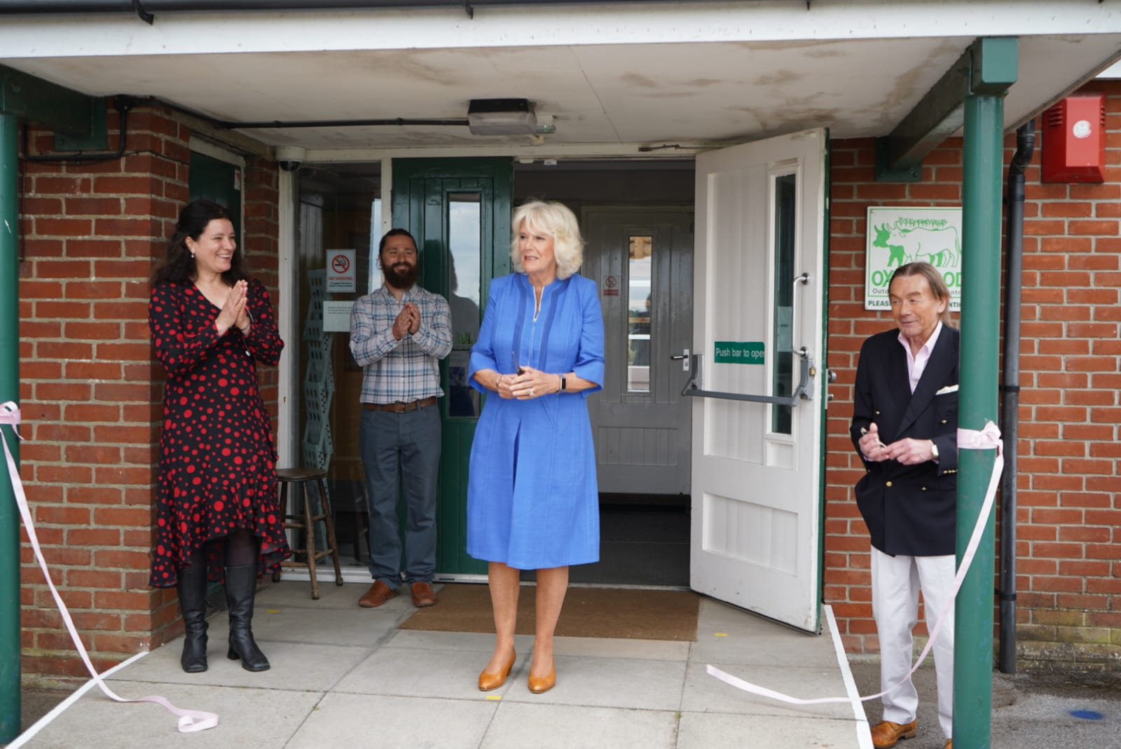 HRH Duchess of Cornwall Cuts the Ribbon at Oxenwood