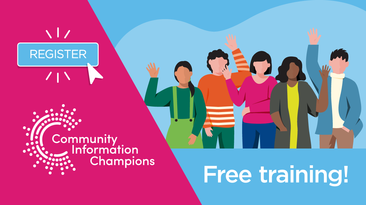 Community information champions free training