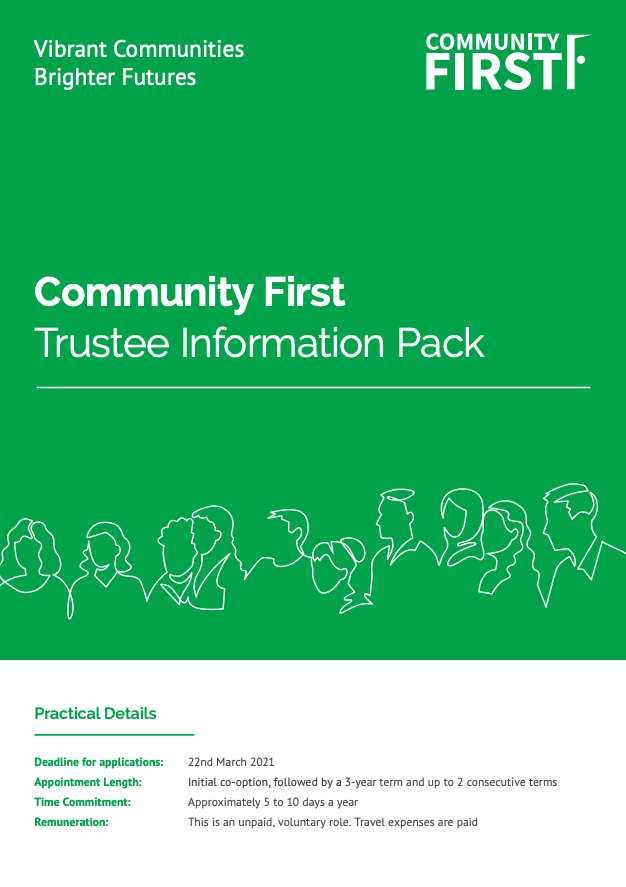 Community First Recruitment Pack Cover