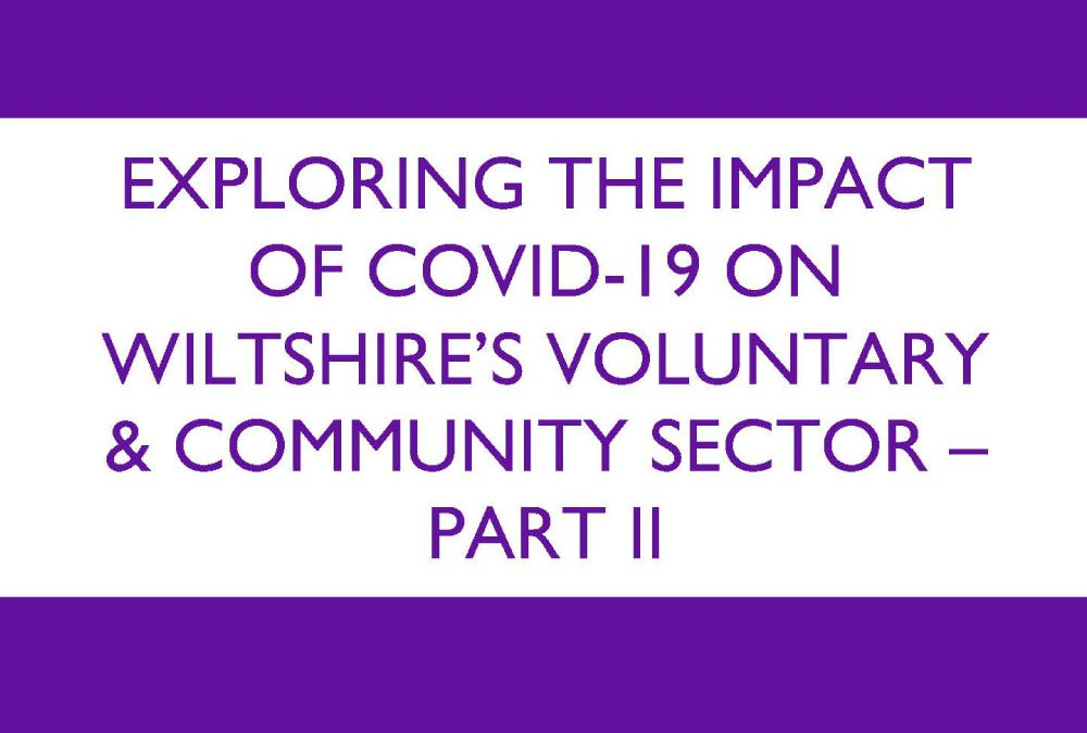 Exploring the impact of Covid 19 on Wiltshire's Voluntary and Community Sector Part II