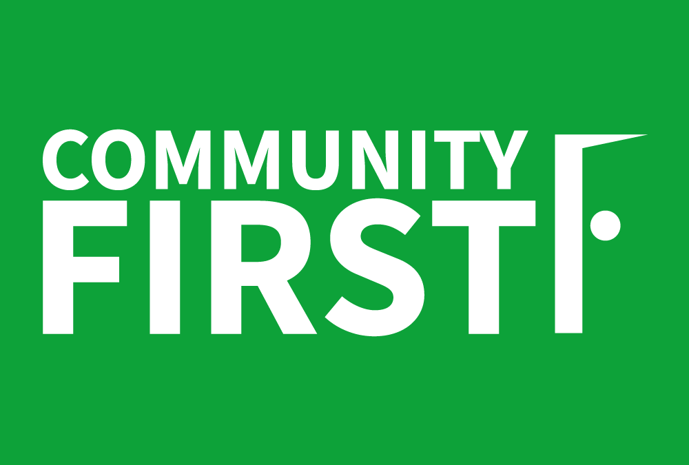 Exciting announcement about community development and 'bold' services via Community First