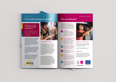 Bold Building Bridges programme A5 brochure 2