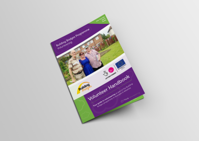 Bold Portfolio Building Bridges Programme Volunteer Handbook Print Design 1