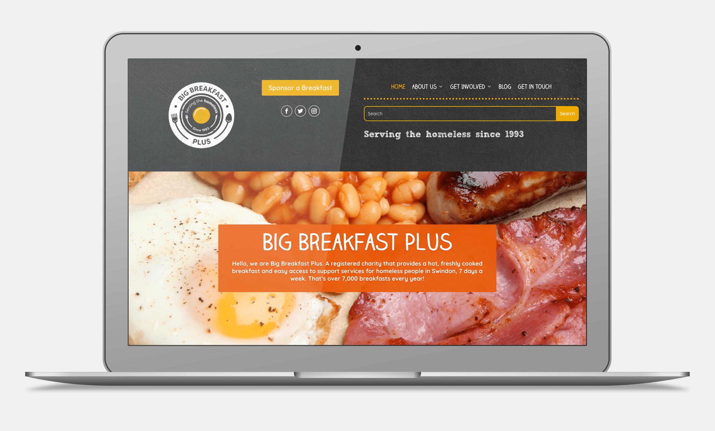 Big Breakfast Plus Website Design (Homepage)