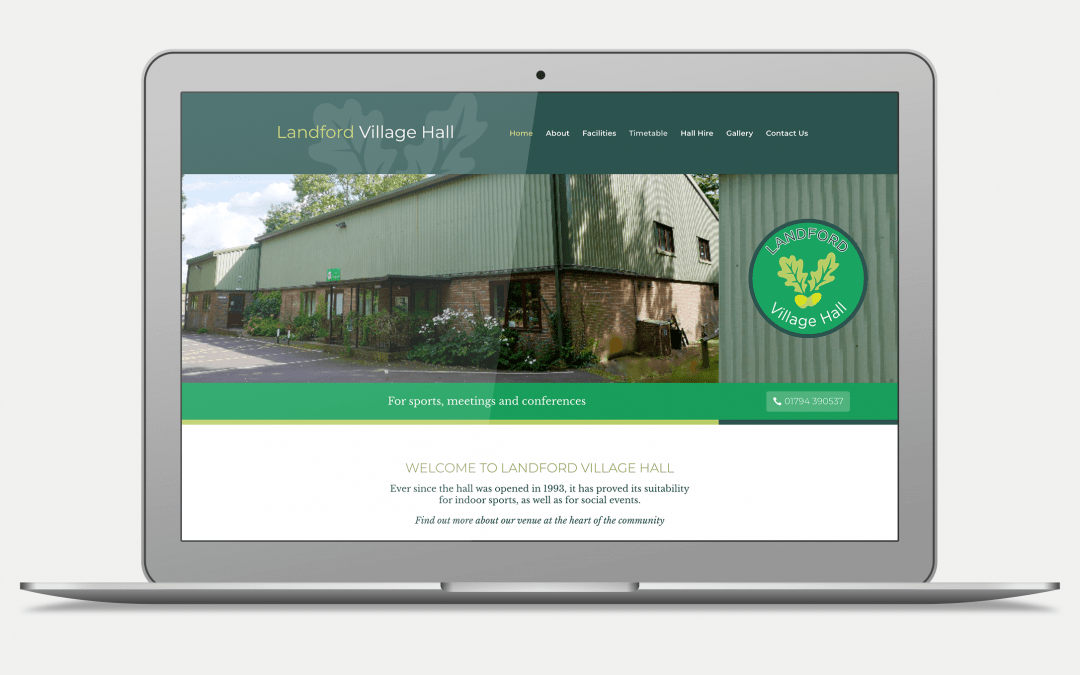 Landford Village Hall Website Design