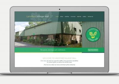 Landford Village Hall Website Design