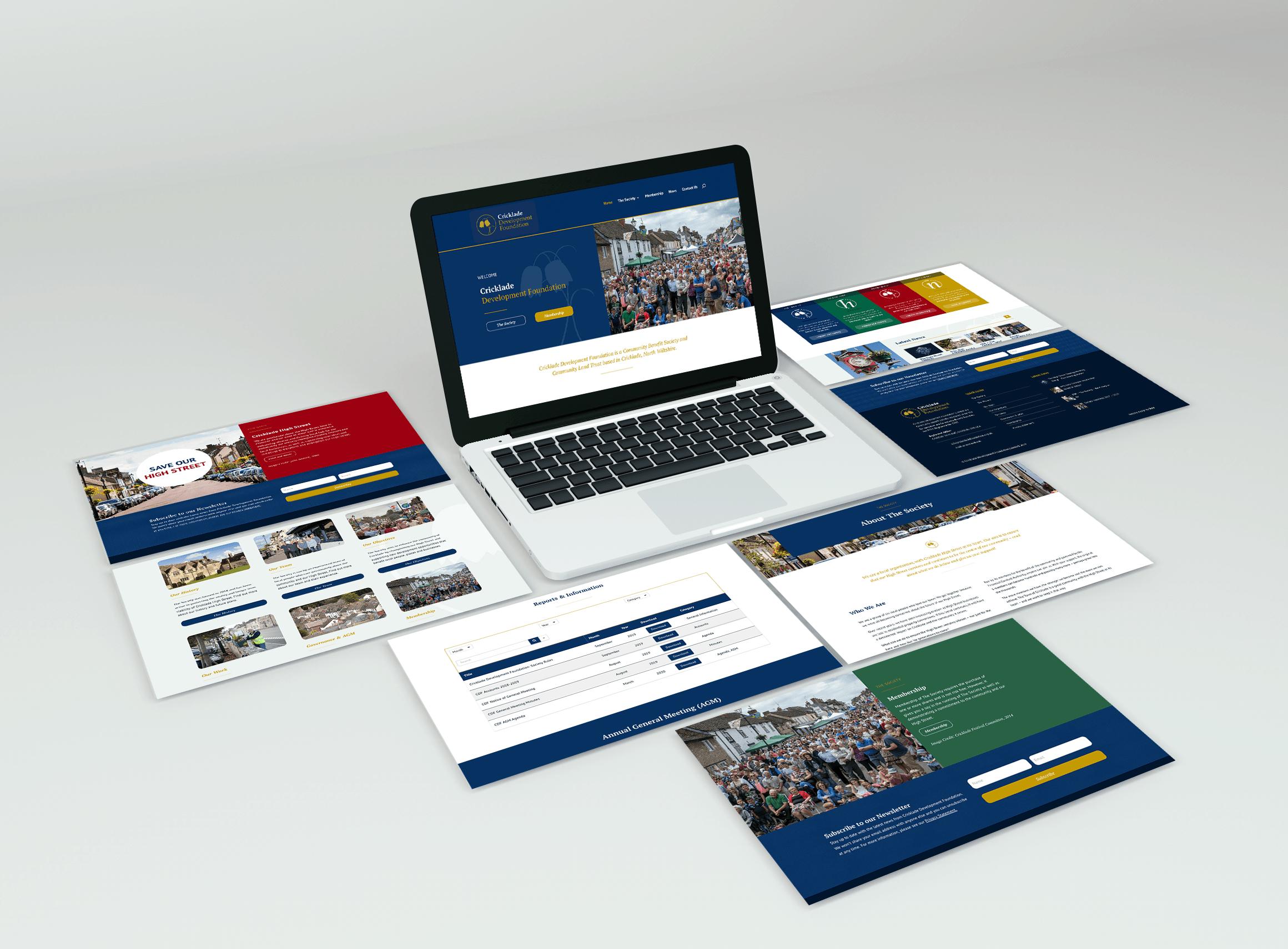 Cricklade Development Foundation Website Design
