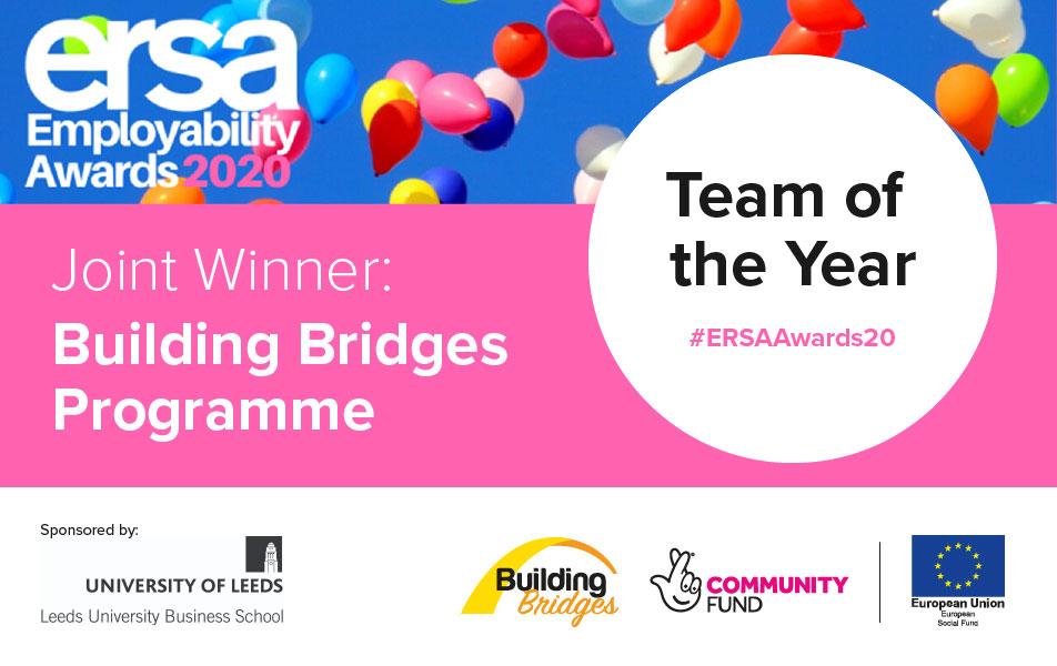 Building Bridges Programme jointly awarded Team of the Year at ERSA Employability Awards 2020