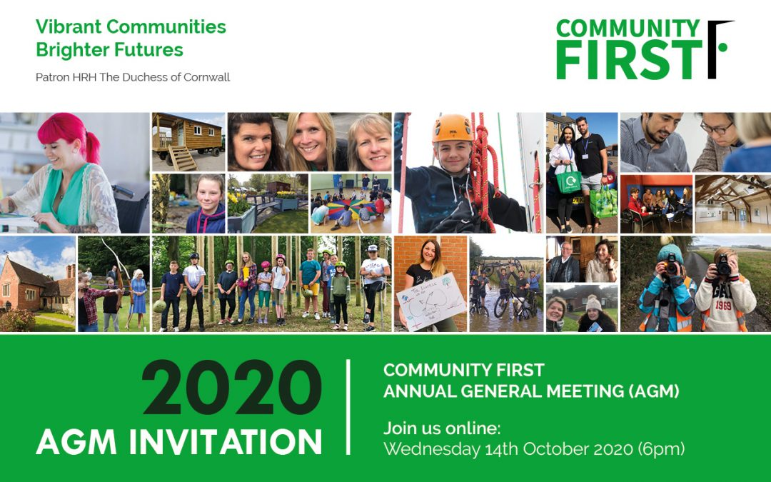 Your Invitation: Community First Virtual AGM 2020