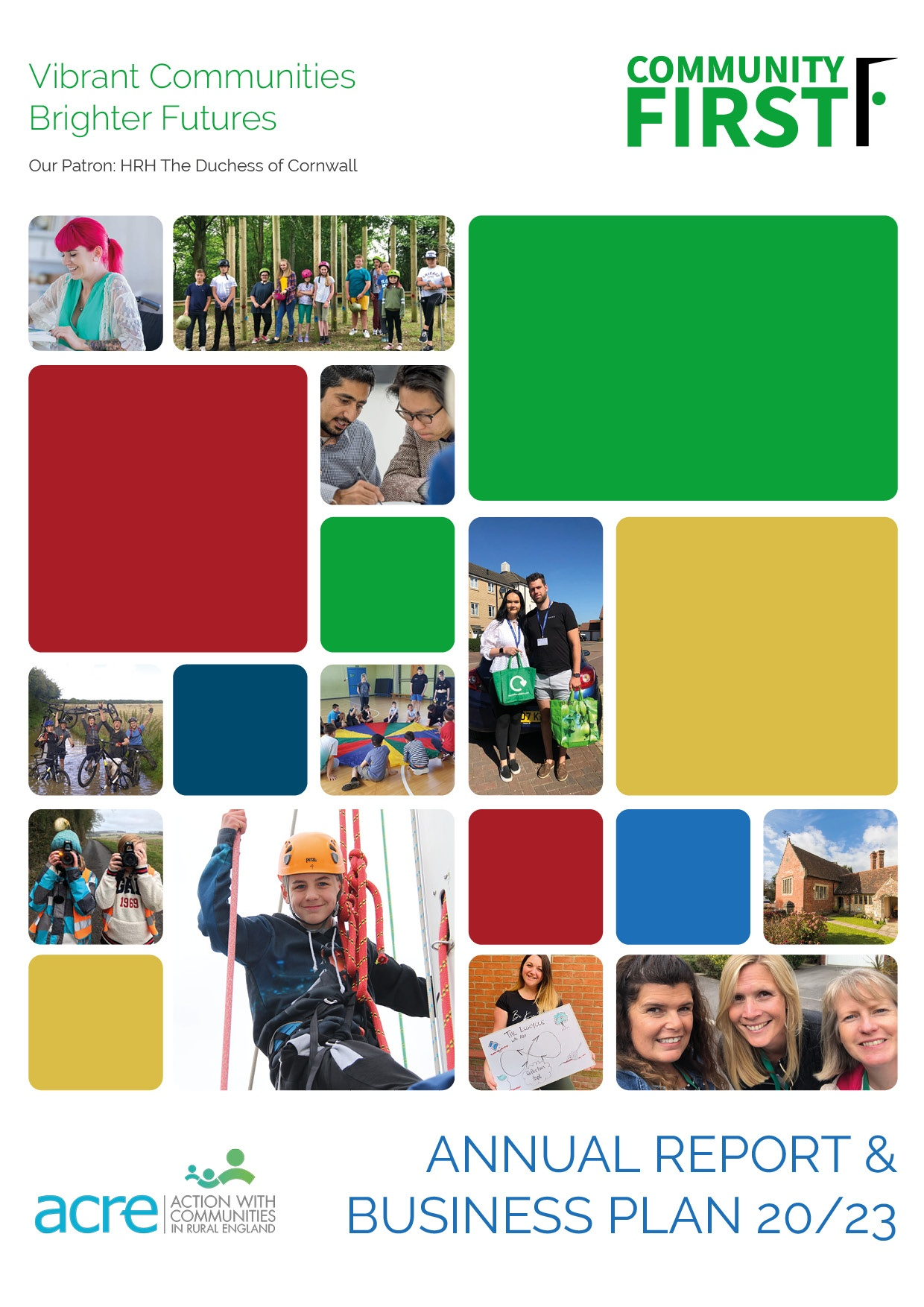 Community first annual review and business plan cover 2020-2023