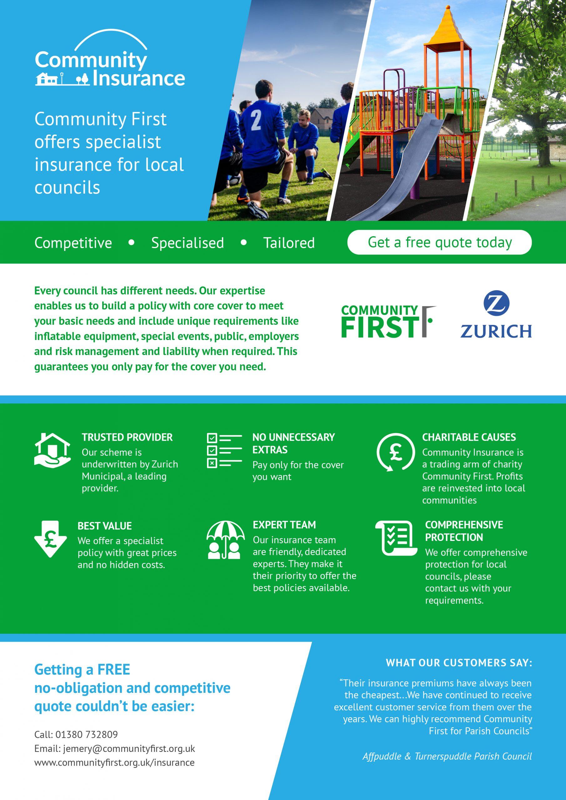 2021 local council community insurance leaflet